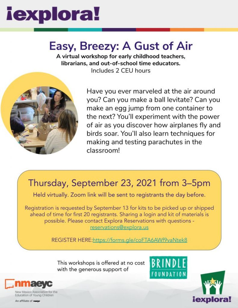 EB A gust of Air workshop flyer