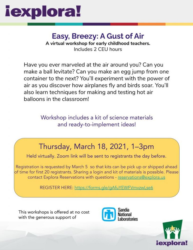 A flyer for Easy Breezy A Gust of Air