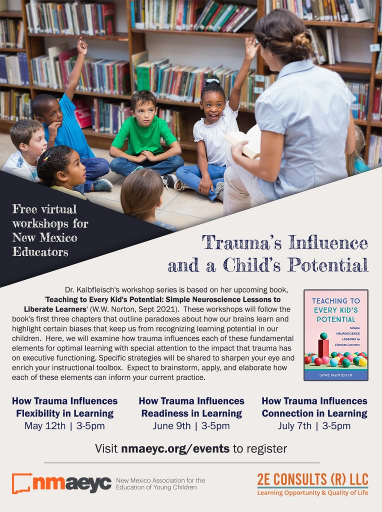 Flyer for Trauma's Influence and a Child's Potential